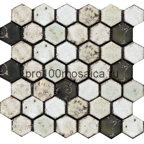 Hexa-2(2). Мозаика СОТЫ 44x49x10, серия Hexa,  размер, мм: 283*245 (GAUDI)