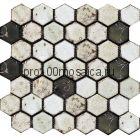 Hexa-2(2). Мозаика СОТЫ 44x49x10, серия Hexa,  размер, мм: 283*245 (GAUDI, Испания)