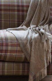 Роскошный шотландский  плед из 100 % драгоценного кашемира, Старинный Пейсли- Умбра Antique Paisley Umber