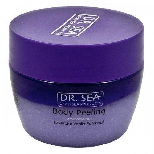 Ароматический пилинг скраб для тела с маслами лаванды, ванили и пачули Dr.Sea (Доктор Си) 320 мл