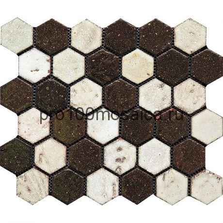 Hexa-5(2). Мозаика СОТЫ 44x49x10, серия Hexa,  размер, мм: 283*245 (GAUDI)