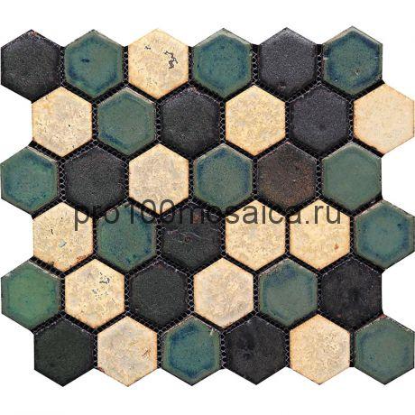Hexa-6(2). Мозаика СОТЫ 44x49x10, серия Hexa,  размер, мм: 283*245 (GAUDI)