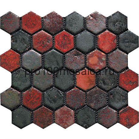 Hexa-9(2). Мозаика СОТЫ 44x49x10, серия Hexa,  размер, мм: 283*245 (GAUDI)