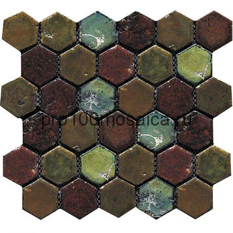 Hexa-8(2). Мозаика СОТЫ 44x49x10, серия Hexa,  размер, мм: 283*245 (GAUDI)