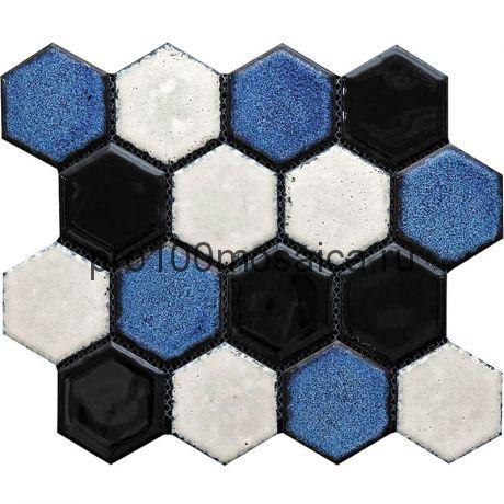 Hexa-26(4). Мозаика СОТЫ 66x77x10, серия Hexa,  размер, мм: 275*240 (GAUDI)