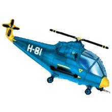 """Вертолёт синий, 14""""/ 36 см"""