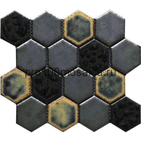 Hexa-32(4). Мозаика СОТЫ 66x77x10, серия Hexa,  размер, мм: 275*240 (GAUDI)