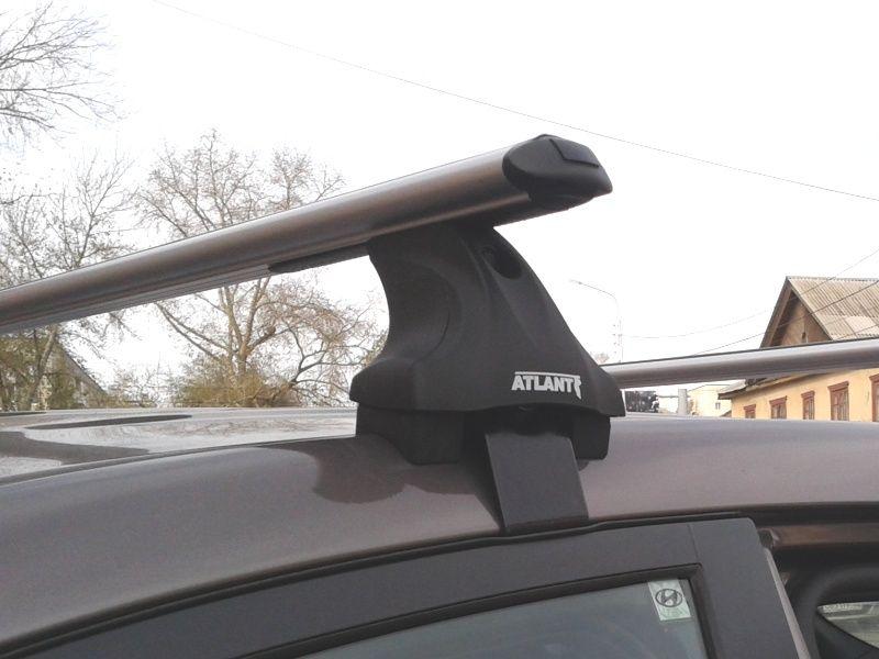 Багажник на крышу Hyundai i40 (2011-15), Атлант, аэродинамические дуги