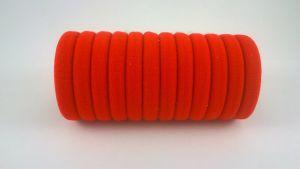 Резинка для волос бесшовная 3 см, цвет № 01 красный, (1уп = 24шт)