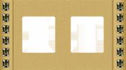 Crystal De Luxe Decor Рамка 2-ная, Real Gold