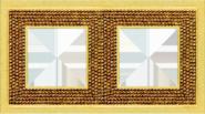 Crystal De Luxe Art  Рамка 2-ная, Real Gold