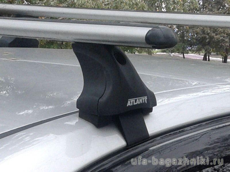 Багажник на крышу Toyota Avensis, Атлант, аэродинамические дуги, опора Е