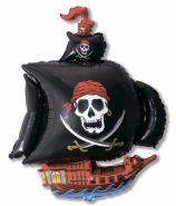 """Пиратский корабль чёрный, 41""""/ 104 см"""