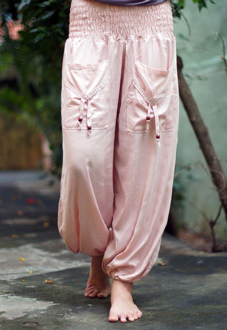 Женские шаровары с карманами из вискозы (отправка из Индии)
