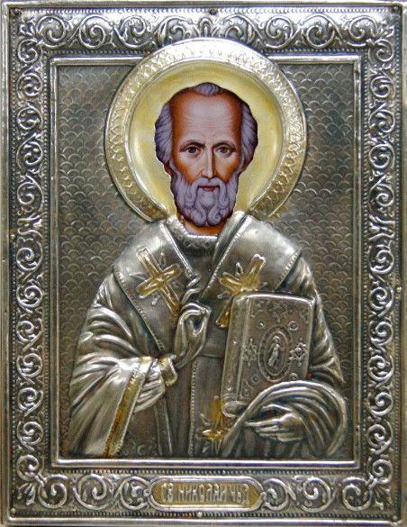 Николай Чудотворец (14х18), серебро