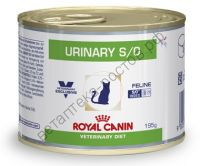 Royal Canin для кошек Urinary S/O, 195 гр.