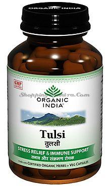 Тулси антистрессовый иммуномодулятор Органик Индия / Organic India Tulsi Capsules