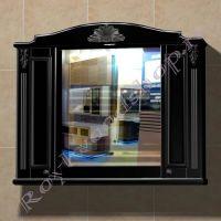 """Подвесной шкаф в ванную комнату """"Руссильон PROVENCE-100 черное дерево"""""""