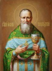 Икона Иоанн Кронштадтский (рукописная)