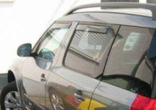 Ветровики 4х окон, ClimAir, вставные светло-дымчатые