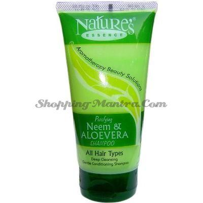 Шампунь-кондиционер Ним и Алое Вера / Nature's Essence Neem and Alovera Shampoo