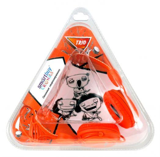 Мониторные наушники SmartBuy® TRIO, оранжевые (2 метра)