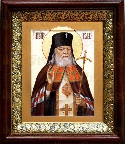 Лука Крымский (19х22), темный киот