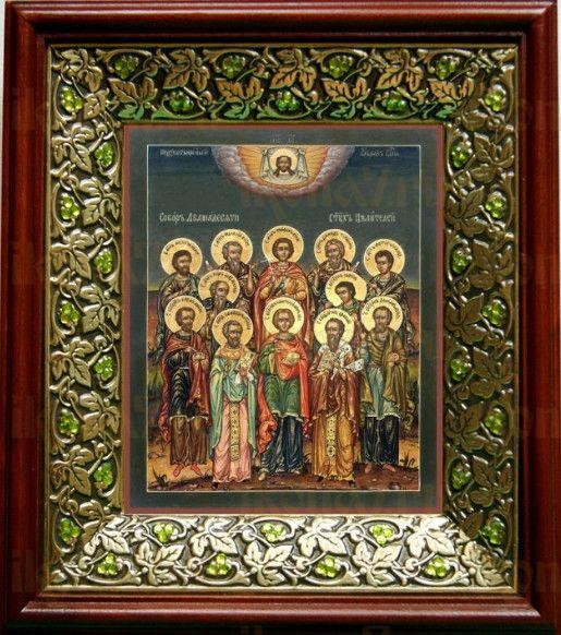 Собор 12 целителей (21х24), киот со стразами