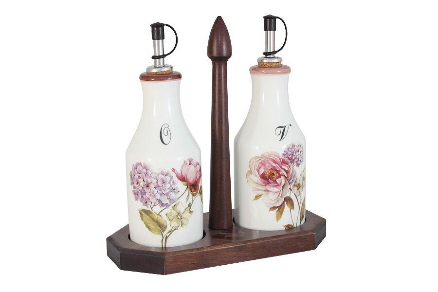 """Набор из 2-х бутылок для масла и уксуса на подставке """"Сады Флоренции"""", 0.275 л"""