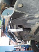 Защита переднего бампера Winbo, Вариант II, нерж. сталь