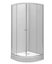 Душевой уголок полукруглый прозрачные стёкла Ifo Silver RP5190222003 90х90