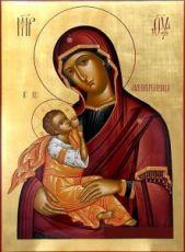 Млекопитательница икона Божией Матери (рукописная)