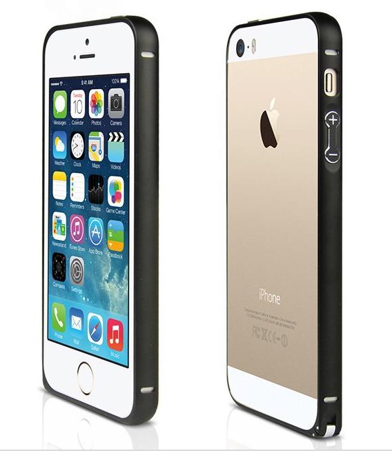 Bumper алюминиевый  0.7mm iphone 5/5s (черный)