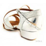 Туфли для танцев серебряные для девочки