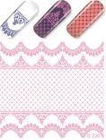 Слайдер-дизайн  S220 розовый  (водные наклейки)