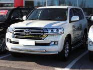 Защита переднего бампера двойная 76х76х43 мм для Toyota Land Cruiser 200 2015