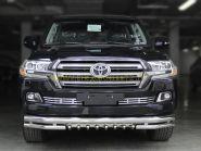 Защита переднего бампера двойная 76х60х43 мм  для Toyota Land Cruiser 200 2015 -