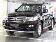 Защита переднего бампера  76мм  для Toyota Land Cruiser 200 2015 -