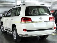 Защита заднего бампера 76х53 мм дуга  для Toyota Land Cruiser 200 2015 -