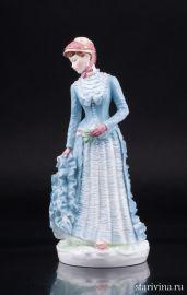1878: Платье с турнюром, Royal Worcester, Великобритания, 1990