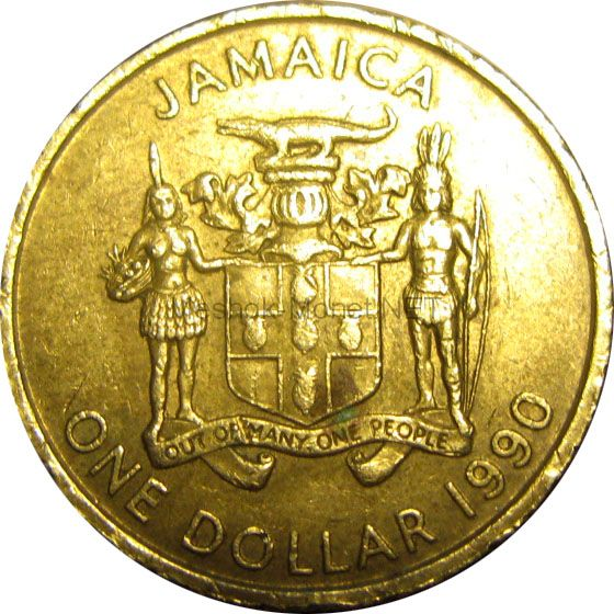 Ямайка 1 доллар 1991 г.