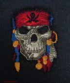 Схема для вышивки крестом Веселый Роджер. Отшив