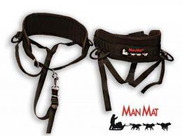 Пояс для каникросса и скиджоринга (широкий, черный) ManMat