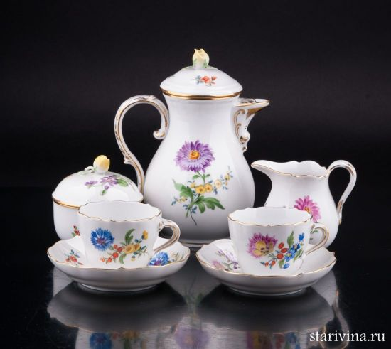 Изображение Тет-а-тет, набор для кофе, Meissen, Германия, вт. пол. 20 в