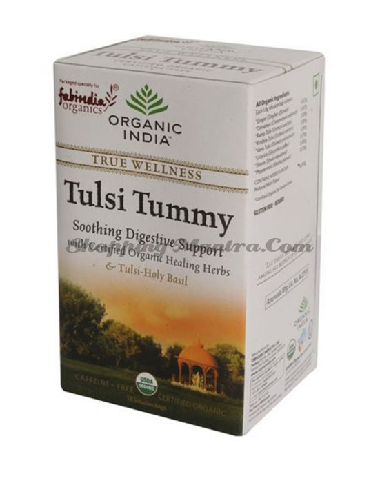 Чай Тулси Тамми для пищеварения в пакетиках Органик Индия / Organic India Tulsi Tummy Tea Bags