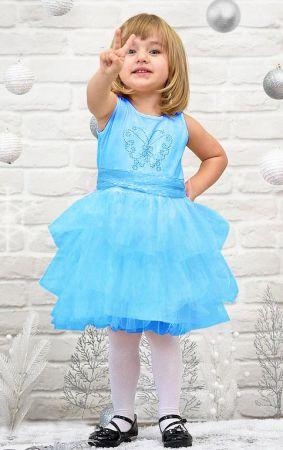 Платье нарядное бирюзовое