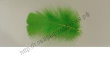 перо декоративное 7/12см зелёное