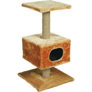 Зооник Дом для кошки на подставке (однотонный мех)