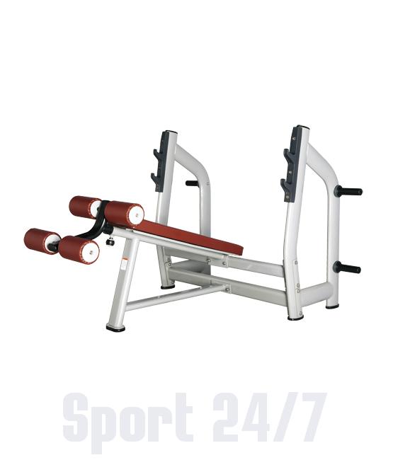 Скамья для жима с отрицательным наклоном Bronze Gym H-024