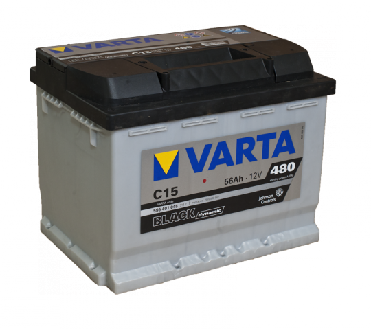 Автомобильный аккумулятор АКБ VARTA (ВАРТА) Black Dynamic 556 401 048 C15 56Ач ПП
